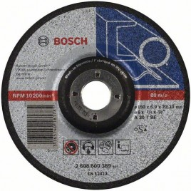 BOSCH Expert for Metal Tarcza ścierna, 150x22,23x6mm 2608600389