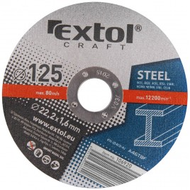 EXTOL CRAFT tarcza do metalu 125x1,6x22,2mm 5szt 106920